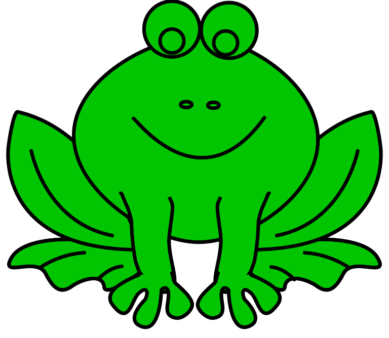 \includegraphics[height=1.2em]{frog-line-art}